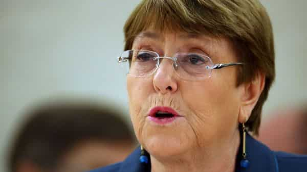 United Nations High Commissioner for Human Rights Michelle Bachelet attends a session of the Human Rights Council at the United Nations in Geneva, Switzerland (Photo: Reuters)