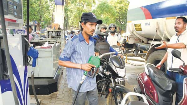Petrol price was left unchanged today.  (Mint)