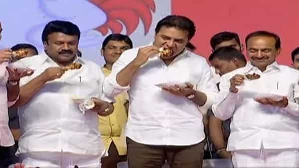 Minister for industry, information technology and municipal administration K.T. Rama Rao was present at the event Photo: ANI