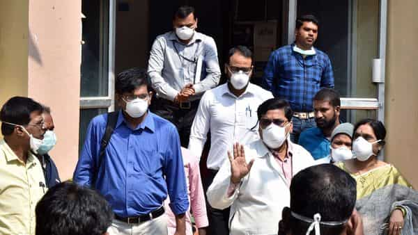 A file photo of an expert team inspecting hospitals to review the preparedness of the management for providing treatment to any suspected cases of the coronavirus in India (Photo: ANI)