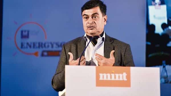 Power minister R.K. Singh speaking at Energyscape, the Mint energy conclave 2020 in New Delhi (Photo: Pradeep Gaur/Mint)