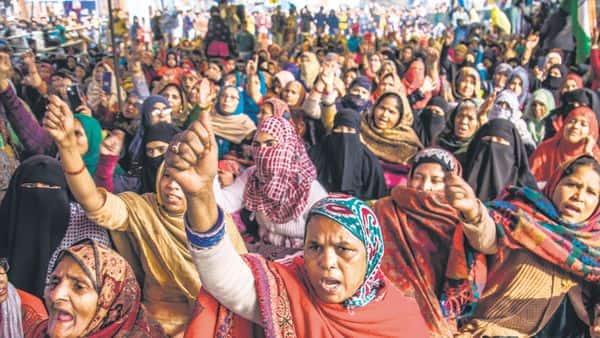Women in Shaheen Bagh area protest against CAA. Pradeep Gaur/Mint (MINT_PRINT)