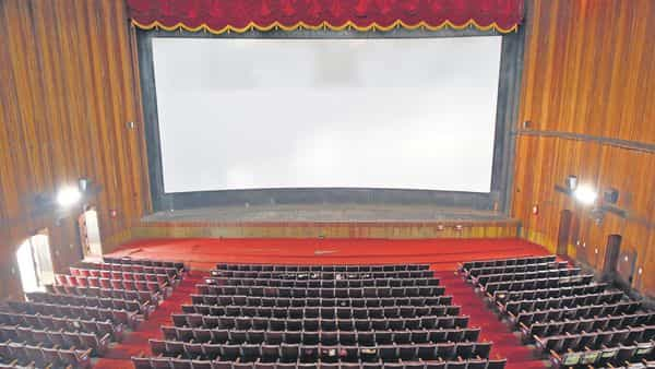 A view of an empty movie theatre after Kerala shut theatres till 16 March. reuters