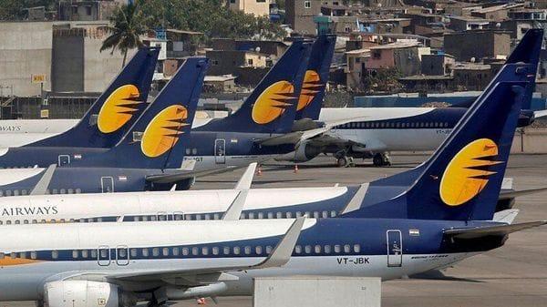 Jet Airways aircraft are seen parked at the Chhatrapati Shivaji Maharaj International Airport in Mumbai. (REUTERS)