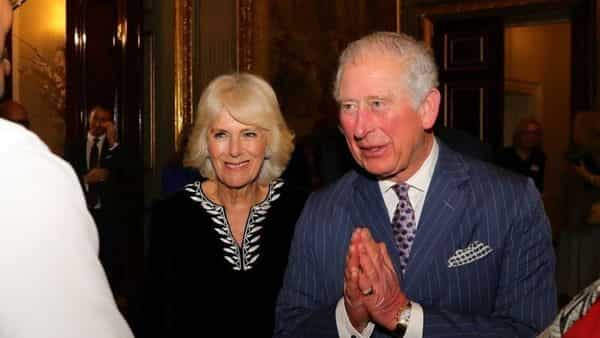 Britain's Prince Charles and Camilla, Duchess of Cornwall attend the Commonwealth Reception at Marlborough House, in London, Britain. (REUTERS)