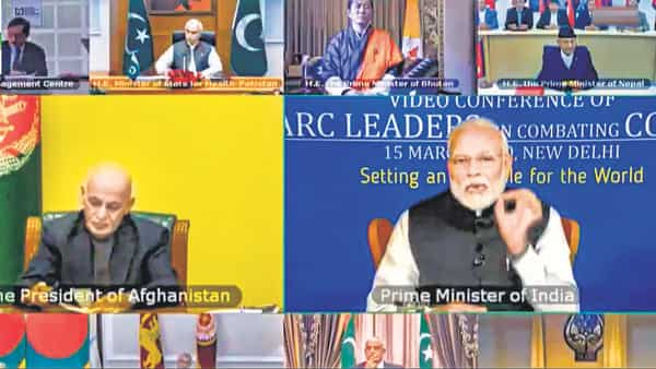 Prime Minister Narendra Modi said evolving a common strategy is critical to handling such challenges, adding that Saarc nations will share knowledge best practices, capacities, and, where possible, resources.  (Photo: PTI)
