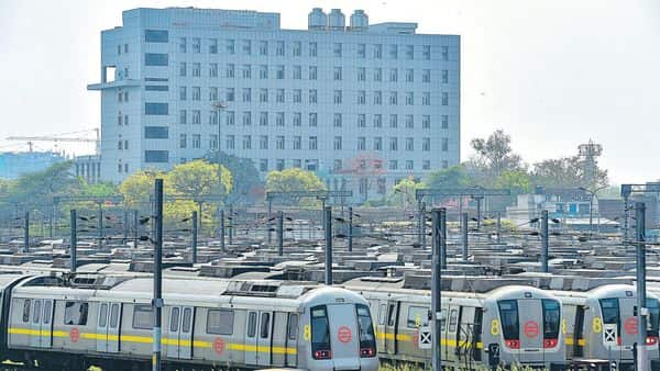 Delhi Metro Rail Corporation will now not run any trains till the end of this month in an effort to break the chain of further coronavirus infection.  (PTI)