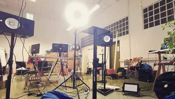 An empty studio. (Photo: Twitter)