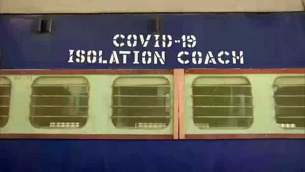 Isolation coaches have been prepared by the Indian Railways to fight the Coronavirus Pandemic, at Rajendra Nagar Terminal railway station in Patna on Saturday.  (ANI )
