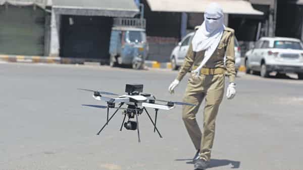 Unmanned aerial vehicles are useful in situations where physical contact is to be avoided or minimized, say police officers. (Photo: AP)