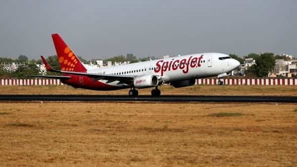 A SpiceJet passenger Boeing 737-800 aircraft takes off from Sardar Vallabhbhai Patel international airport in Ahmedabad. (REUTERS)