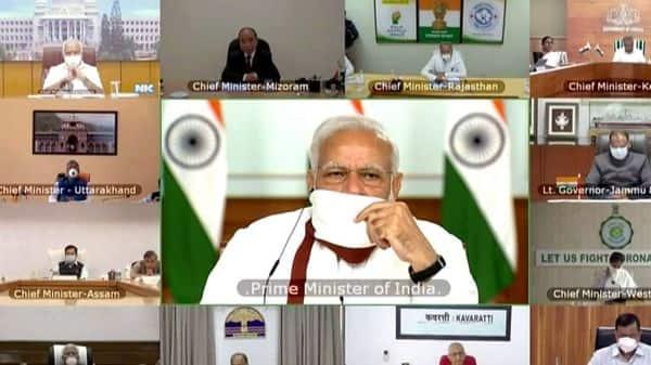 Prime Minister Narendra Modi during video-conferencing (Photo: ANI)