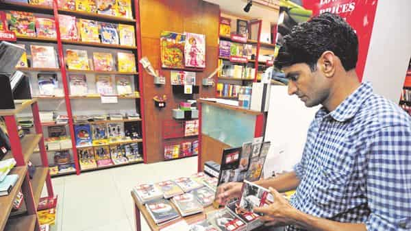 Shops of educational books for students have been allowed. pradeep gaur/ mint (MINT_PRINT)