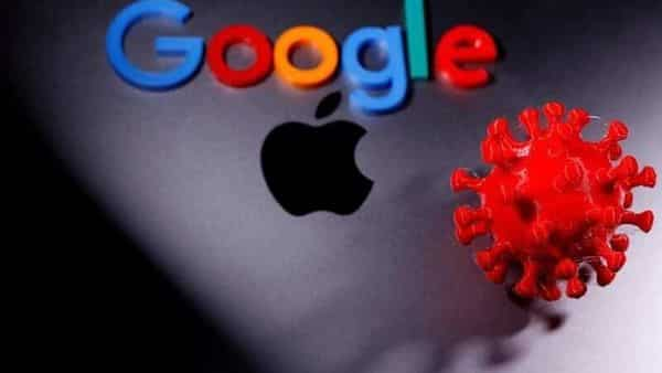 FILE PHOTO: 3D printed coronavirus model and Google logo are placed near an Apple Macbook Pro in this illustration taken April 12, 2020. REUTERS/Dado Ruvic/Illustration/File Photo (REUTERS)