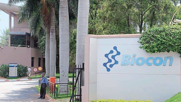 Shares of Biocon Ltd closed at  ₹352.10 per scrip on the BSE, down 3.02 per cent from its previous close.