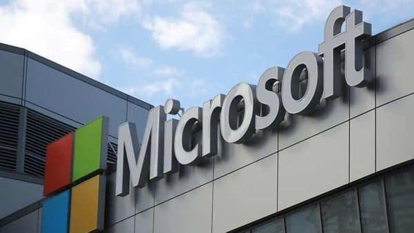A Microsoft logo is seen in Los Angeles, California U.S. (REUTERS)