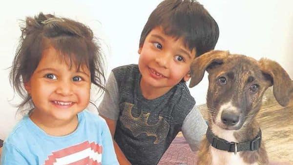 Ariana and Aryan with their adopted puppy, Kiko. (Photo: Nikarika Devaya Cursetji)