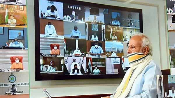The 5th video conference meeting of Chief Ministers under the chairmanship of Prime Minister Narendra Modi, on COVID-19 situation (Photo: ANI)