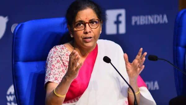 Finance minister Nirmala Sitharaman announcing the third tranche of the  ₹20 trillion economic package, Photo: Pradeep Gaur/Mint
