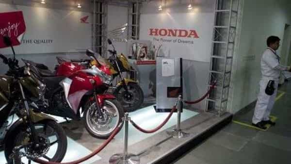 Motorcycles displayed at the Honda Motorcycles and Scooters India plant in Manesar. (Photo: Bloomberg)