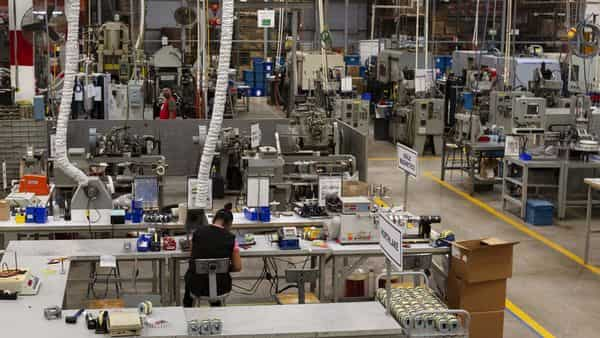 A file photo of an electronics manufacturing facility. (Bloomberg)