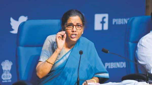 Finance minister Nirmala Sitharaman on Sunday announced several measures for the education sector. Photo: Mint/Pradeep Gaur
