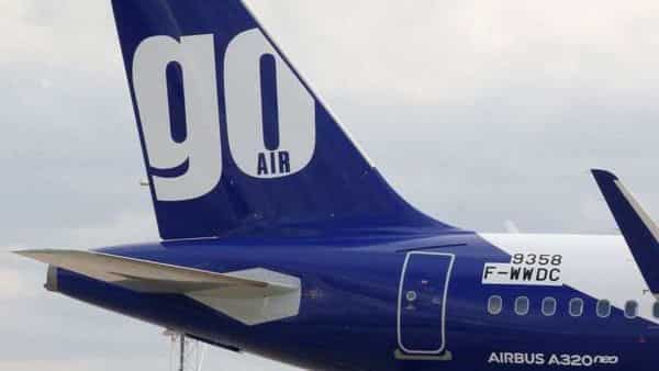 The logo of GoAir airline is pictured on an A320neo aircraft. (REUTERS)