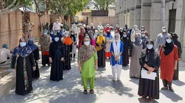 Women members of the Sehat Sahayta Samooh.