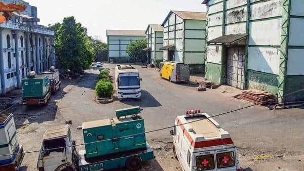 The closed sets of Film City studio amid concerns over the spread of the novel coronavirus in Mumbai