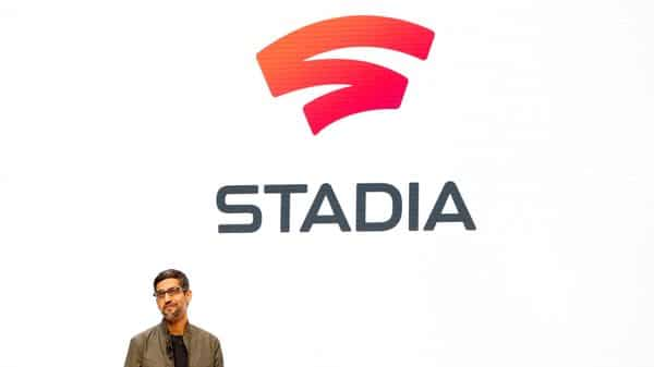 Google CEO Sundar Pichai speaks during a Google keynote address announcing a new video gaming streaming service named Stadia (Reuters)