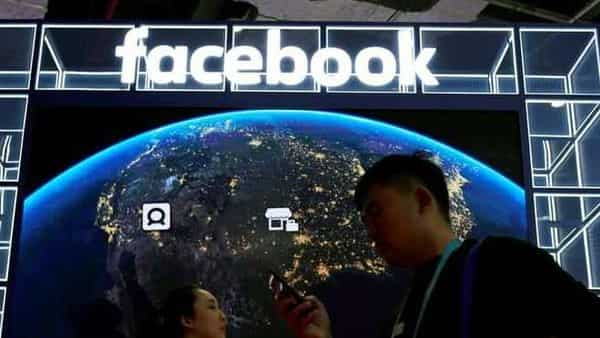 FILE PHOTO: A Facebook sign is seen at the second China International Import Expo (CIIE) in Shanghai, China November 6, 2019 (REUTERS)
