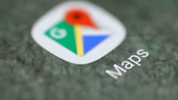 The Google Maps app logo is seen on a smartphone in this picture illustration (REUTERS)