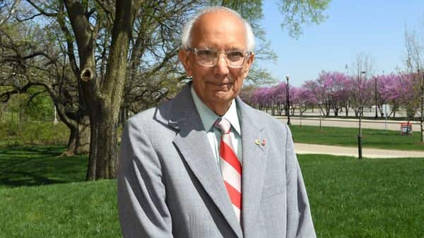 Rattan Lal, a professor of soil science at The Ohio State University poses at the University in Columbus, Ohio.(World Food Prize Foundation via AP) (AP)
