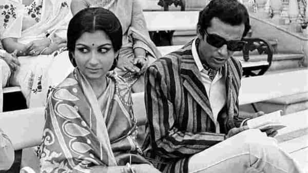 A still from Ray's 1971 film 'Seemabaddha', featuring Sharmila Tagore and Barun Chanda.