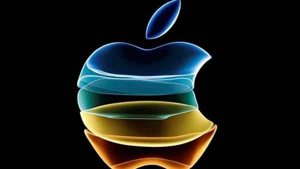 The Apple logo is displayed at an event at the company's headquarters in Cupertino, California (Reuters)