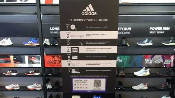 Adidas India has also installed a self-service booth at its Bengaluru store where customers can complete their purchase on their own using a virtual system