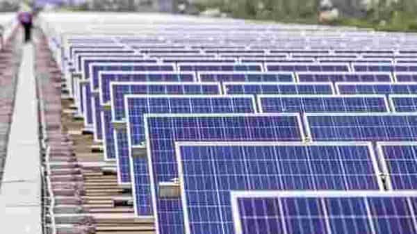 Solar parks are being showcased as a best practice from India which had started solar parks as a novel concept and has commissioned a number of projects, a statement by NTPC said.  Photo: Bloomberg