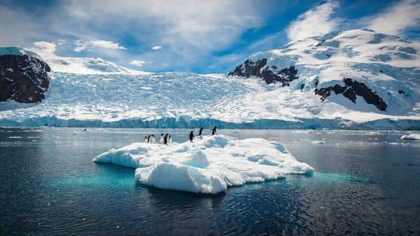 The South Pole is warming faster than the global average. (Getty Images)