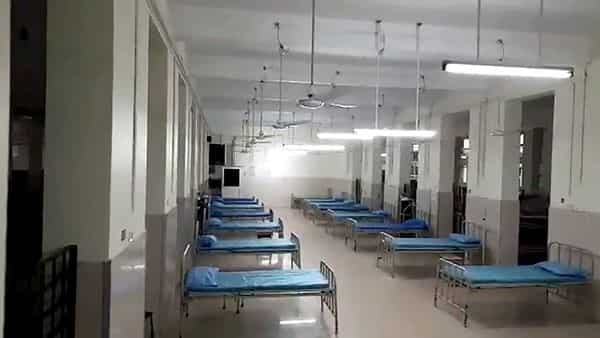 A view from inside of COVID-19 ward of Thiruvananthapuram Medical College.