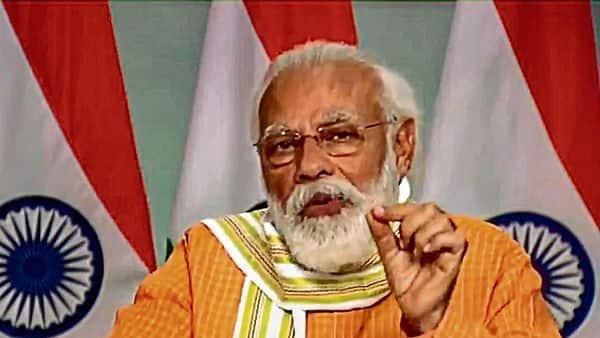 Prime Minister Narendra Modi in New Delhi on Thursday. (PTI)