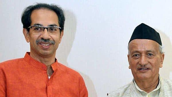 Maharashtra Governor Bhagat Singh Koshyari (R) with state CM Uddhav Thackeray (ANI )