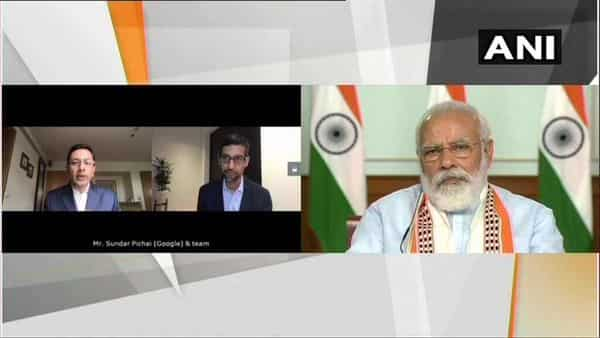 Prime Minister Narendra Modi and Google CEO Sundar Pichai today held a video conference over a wide range of issues. (ANI)