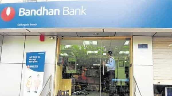 Shares of Bandhan Bank traded 0.7% lower at  ₹349.90 apiece,. Photo: Mint