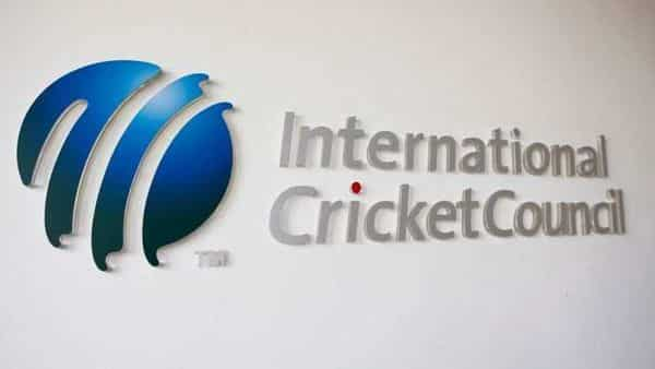 The International Cricket Council (ICC) logo at the ICC headquarters (REUTERS)