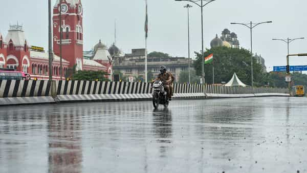 Chennai: A scooter plies on an empty road during an intensified lockdown imposed to curb the spread of coronavirus disease. (PTI)