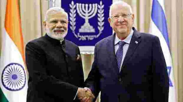 Prime Minister Narendra Modi on Wednesday called on Israeli President Reuven Rivlin and discussed ways to strengthen bilateral ties. Photo: AFP
