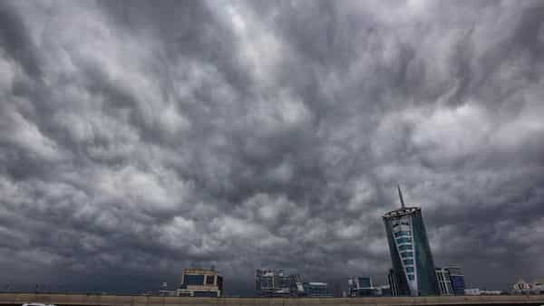 Gurugram: Dark clouds gather in the sky during monsoon season, in Gurugram,  (PTI)