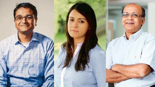 From left: G.V. Ravishankar, managing director, Sequoia Capital India; Harsha Kumar, partner, Lightspeed India; and Subrata Mitra, partner, Accel Partners.