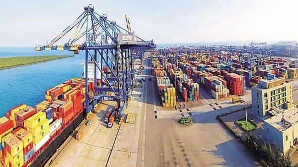 Adani Ports and Special Economic Zone's total revenue dropped 18% in the June quarter, slower than 27% fall in port volumes.