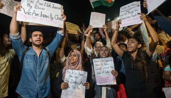 A demonstration against the Citizenship (Amendment) Act and the proposed National Register of Citizens in Mumbai on 18 December. (Hindustan Times)